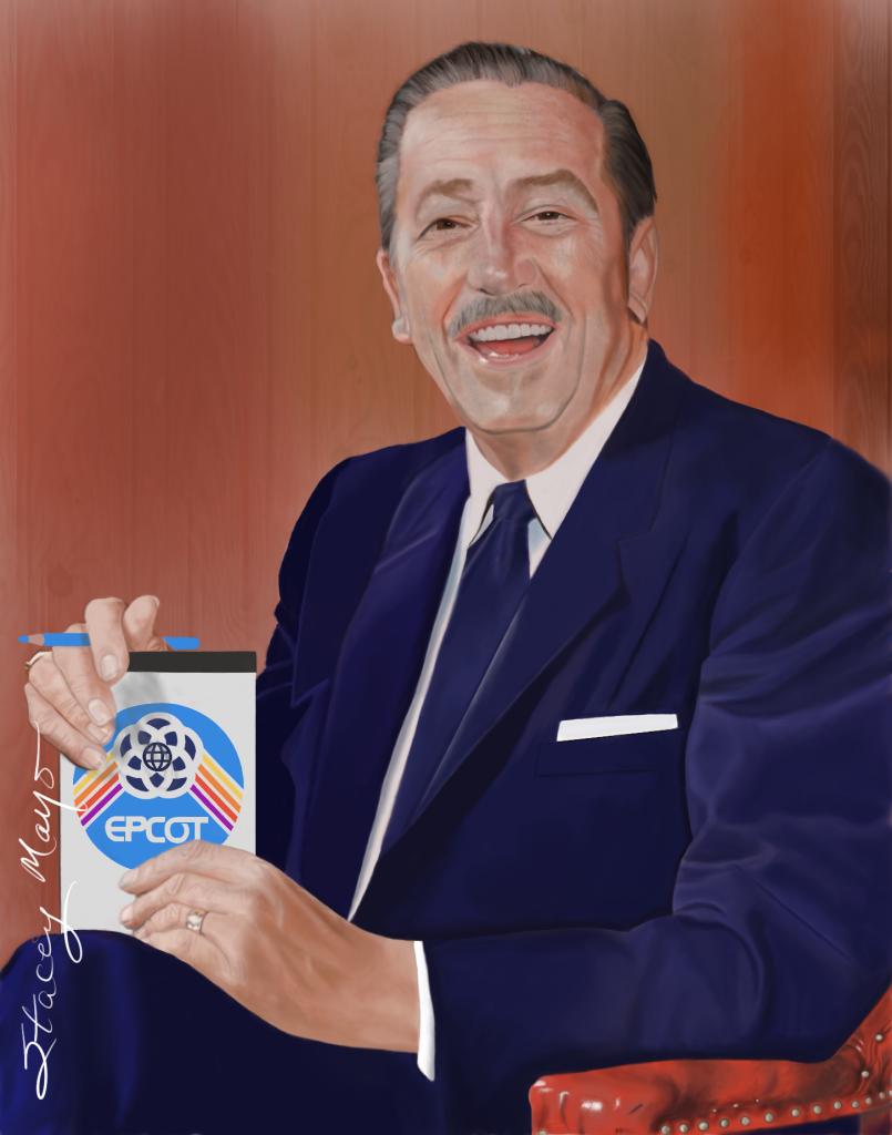 Walt Disney Portrait by Stacey Mayo
